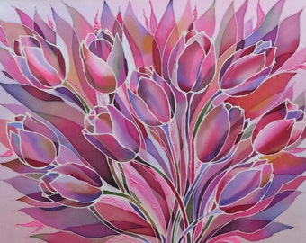 "The painting ""Pink tulips"""
