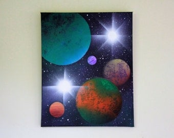 Planetary Wall Art 12x24 in