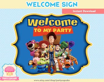80% OFF SALE Welcome Sign Toy Story - Instant Download - PDF Files - High Resolution - Holiday Party