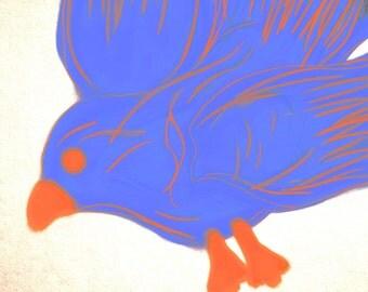 Orange&Blue Bird