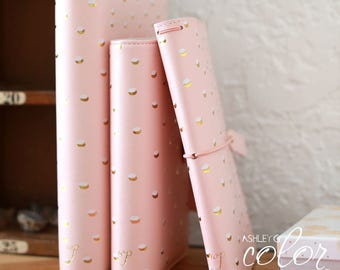 CLEARANCE: YEAR 2016 Webster Pages Personal Planner Kit - Blush and Gold Foil Dot