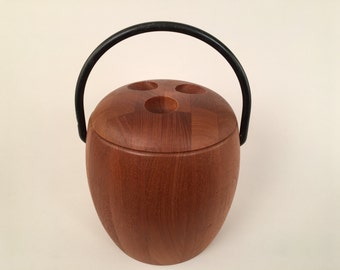 Vintage 70s - Digsmed ice bucket - staved teak