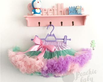 Pastel Pettiskirt, Party Deluxe Fluffy Chiffon Pettiskirt for Girls