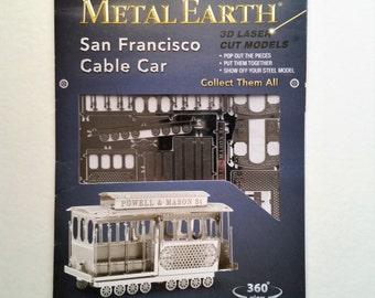 Metal Earth 3D laser cut San Francisco Cable Car model. Collectibles.