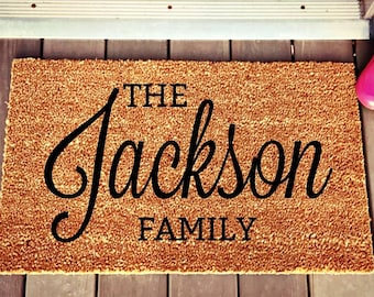 Personalized doormat, last name doormat, custom doormat, personalized door mat, doormat personalized, custom door mat, welcome mat