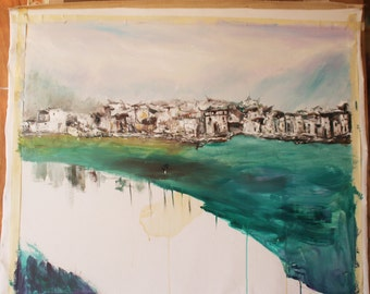 """35""""X29"""" handmade oil painting,bit oil painting ,Home decoration oil painting by BAIYUN"""