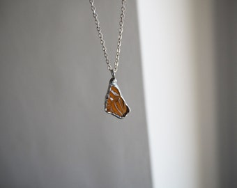 Amber Sea Glass Pendant. Genuine English Sea Glass Jewellery. Amber Sea Glass and Silver Necklace.  Unique Sea Glass Necklace.