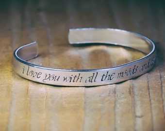 I Love You With All The Moods And Tenses Of The Verb / Romantic Jewelry / Literary Jewelry / Literary Gift / Dracula Jewelry / Dracula Gift