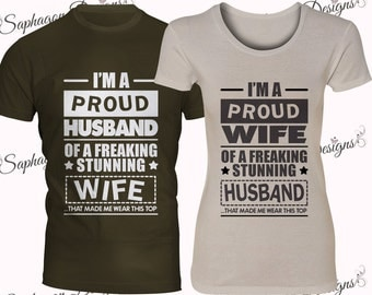 Proud Husband / Wife T-Shirt Sets