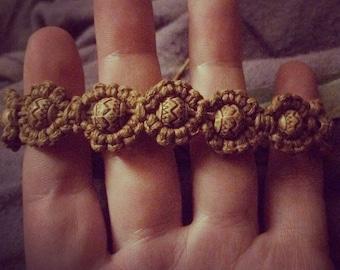 Earthy Macrame Beaded Bracelet