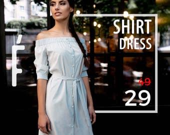 Shirtdress SALE! Cotton dress