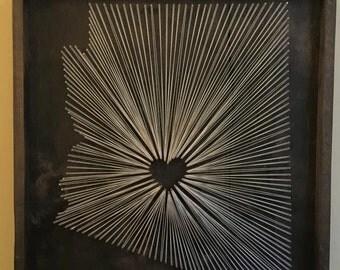 String Wall Art arizona string art | etsy