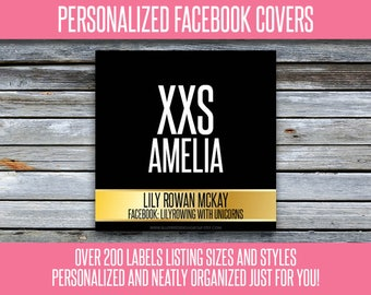 Facebook Album Covers - Size and Style - Personalized! 200+ Graphics - LLRFBL16