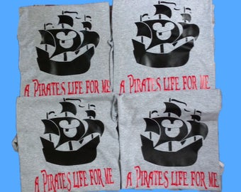 Sale!! Disney Cruise shirt - Disney Shirt - Pirate Mickey Shirt- A Pirates life for Me