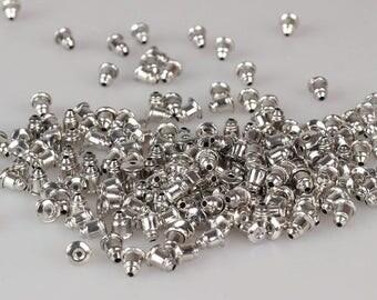 Blullet back earrings stopper,Gold earnuts backing,earrings stopper in gold,earrings stopper in silver 5mm × 6mm