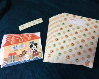 Mickey Mouse Letter Set with Window Envelopes from Japan