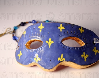Bourbon Lily Màsches Ceramic Mask Decoration
