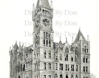 Scranton City Hall Print