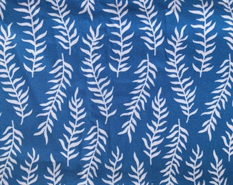 Quilting Fabric  Fun Blue and White.  2 and 1/2 yards available