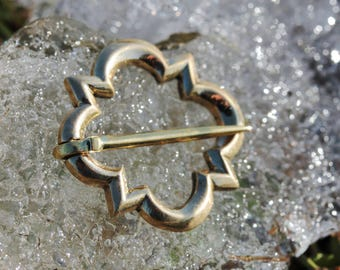 quatrefoil brooch - bronze brooch - medieval brooch -  13th century brooch -  14th century brooch -  historical brooch -  historical jewelry