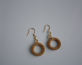 Gold plated copper wire earrings