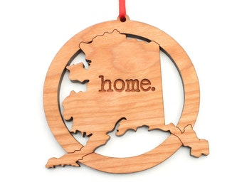 Alaska home. Christmas Ornament - AK Alaska State Ornament - Home Christmas Ornament