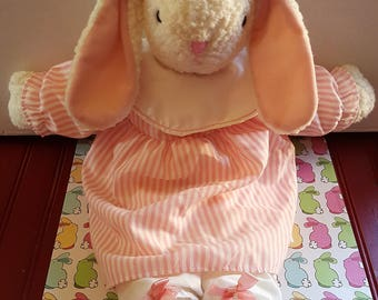 Girls easter gift etsy vintage large floppy easter bunny adorable clean little girl easter gift negle Image collections
