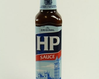 Solid Sterling Silver LID - HP sauce bottle - 255g - boxed!