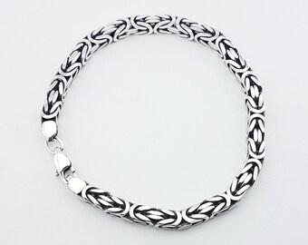 Viking Bracelets Silver 925,Fox's Tail beautiful Men's/Women Chain Silver 925, Bracelets for men and women.