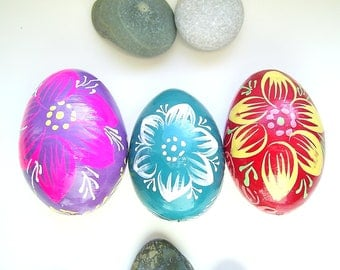 Ukrainian Painted Wooden Easter Eggs, Pysanka, Wooden Ukrainian