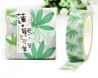 GREENSUMMER Japanese Washi Tape, Masking Tape, Planner Stickers,Crafting Supplies,Scraping Booking,Adhesive Tape,Deco Tape,Floral Washi Tape
