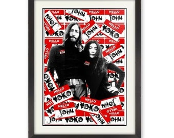 Limited Edition - Hello my name is JOHN and YOKO