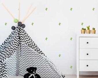 Vinyl child - Little cactus - Mini removable decorative vinyl cactus