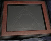 Scrying Mirror  Etched with Goetic Design