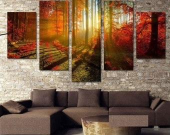 Forrest Autumn- split framed canvas print