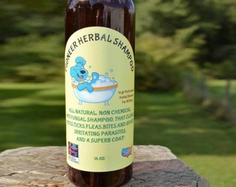 Natural Flea & Tick Shampoo, essential oils, organic flea shampoo, itch relief, chemical free, handmade