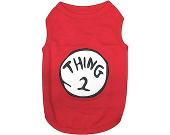 Thing 2 Dog T-Shirt, Dog Clothes, Pet Shirts