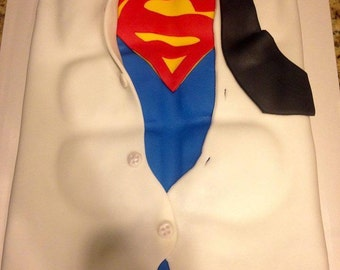Superman Symbol Cake Topper