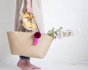 Xinh Weekender - Merlot - Seagrass Beach Bag