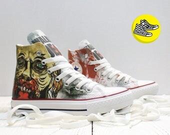 Walking Dead zombie custom Converse all star shoes