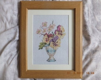 "Cross stitch picture ""Spring flowers"""