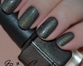 Shades Of Grey - Grey Black Holographic Nail Polish