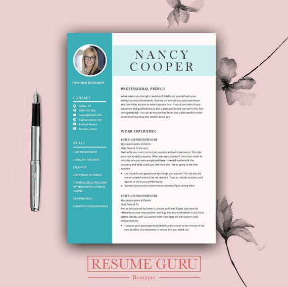 Professional Resume Template Microsoft Word: Professional Resume Template Cover Letter For MS Word Best
