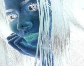 Beautiful Girl Negative Photo