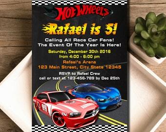 Hot Wheels Invitation / Hot Wheels Birthday / Hot Wheels Birthday Invitation / Hot Wheels Party / Hot Wheels Invite / Hot Wheels Card Party
