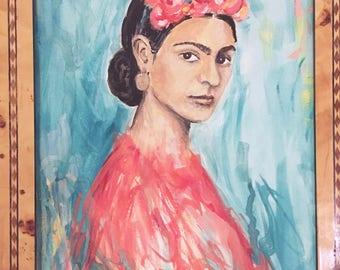 Ode to Frida, Gouache Print, 8x10