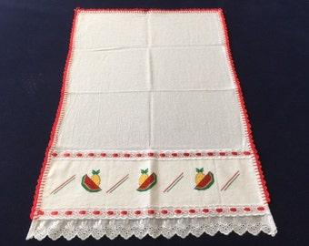 Kitchen Towel with Watermelon Slice Design