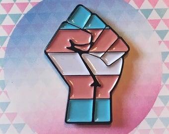 Enamel Pin Transgender Pride Pin Transgender Badge LGBTQ Agender Genderqueer Trans Pride Non-Binary Queer