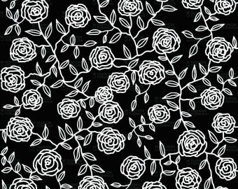 Roses Fabric by Maryartdecor