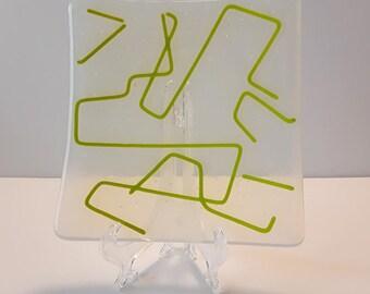 Fused Glass Retro Sushi Plate